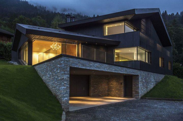 Интересный дом в горах Франции
