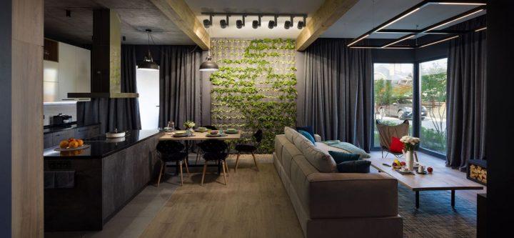 QDRO-terraced house – Кухня-гостиная